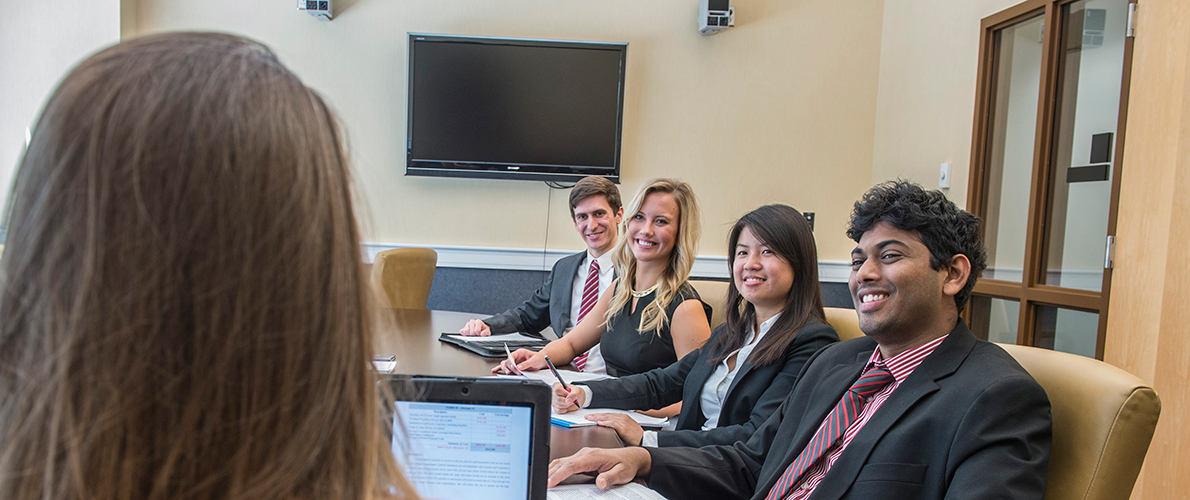 SIU Business students